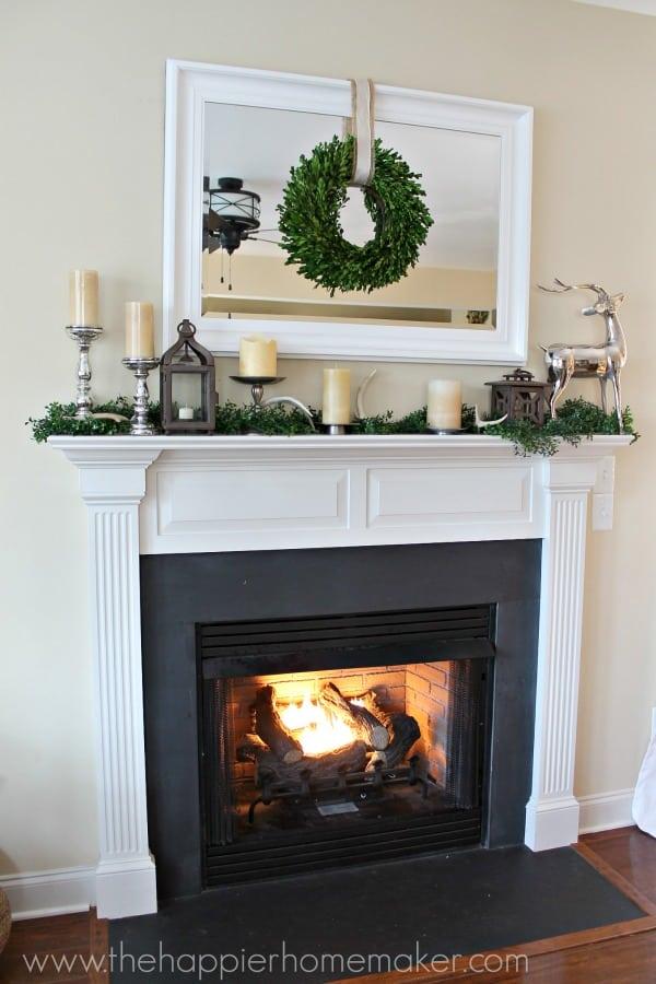 Christmas Mantel 2013 neutral