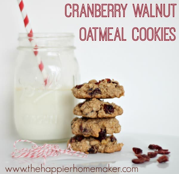 cranberry walnut oatmeal cookie recipe