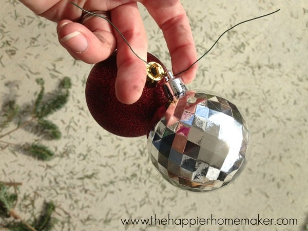how to add ornaments to garland