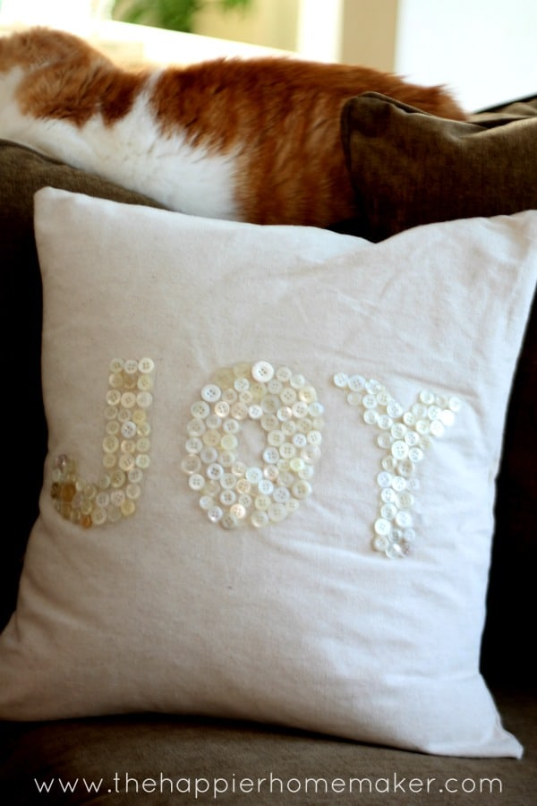 joy button pillow