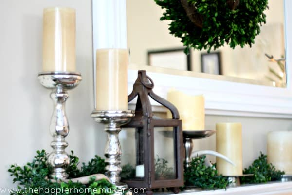 neutral mantel mercury glass