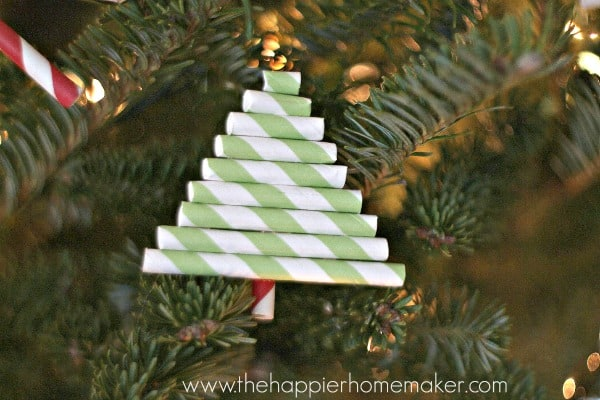 Diy paper straw ornaments the happier homemaker - Make christmas tree last longer ...