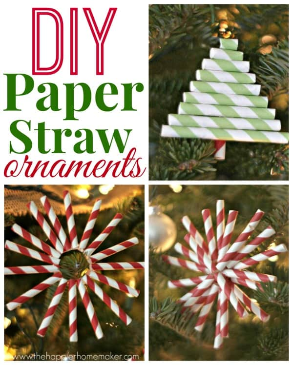 paper straw ornament diy how to
