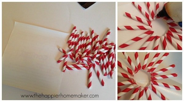 A collage of DIY paper straw ornaments and how to make them