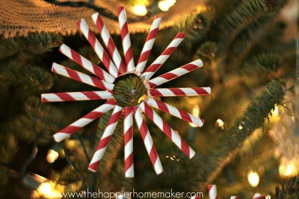 DIY Paper Straw Ornaments
