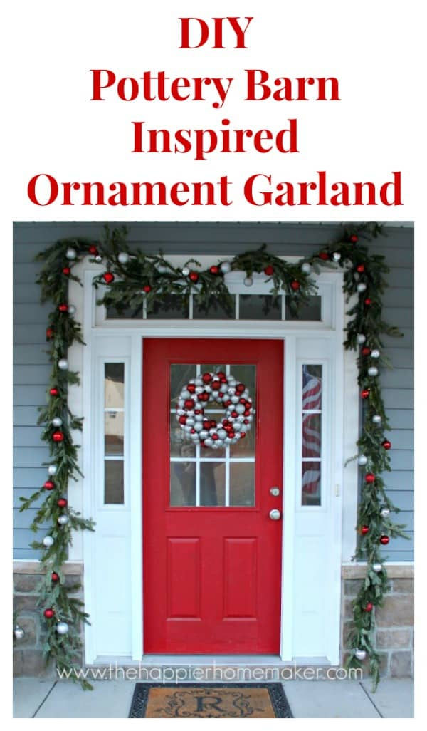pottery barn inspired ornament garland