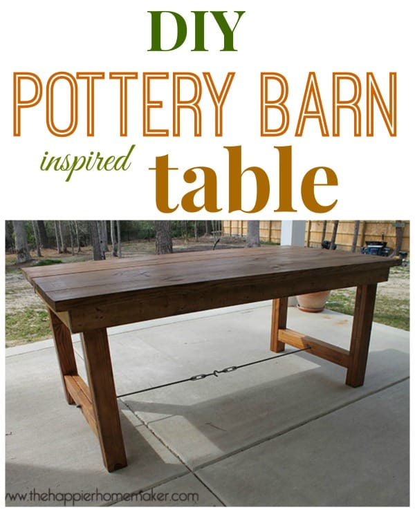 pottery barn table diy