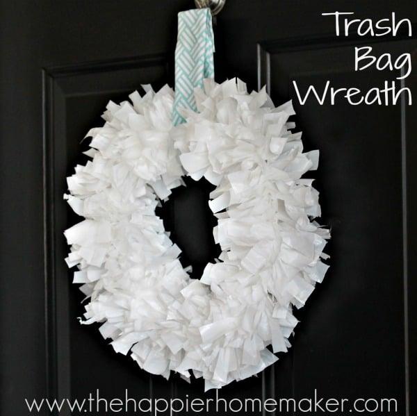 DIY Trash Bag Wreath