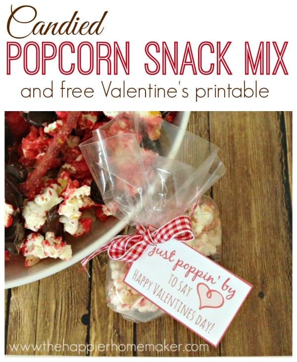 candied popcorn snack valentines printable