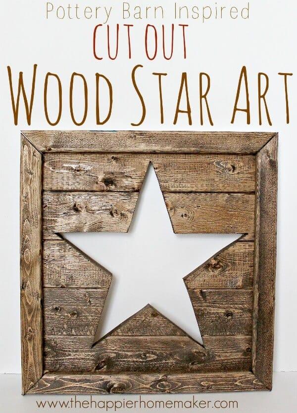 cut out wood star art