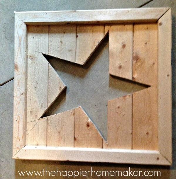 diy pottery barn star tutorial