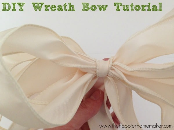 diy wreath bow tutorial diy