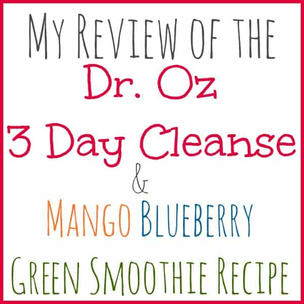 dr oz cleanse review