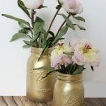 gilded mason jars