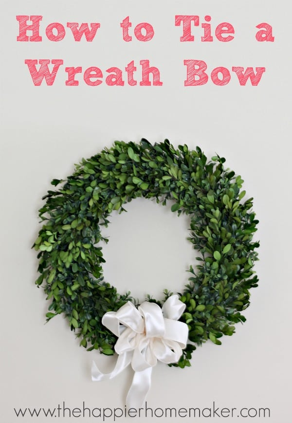how to tie a wreath bow tutorial