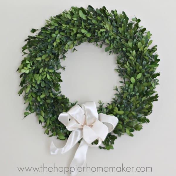 how to tie wreath bow