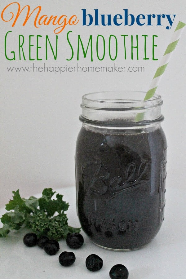 mango blueberry green smoothie recipe