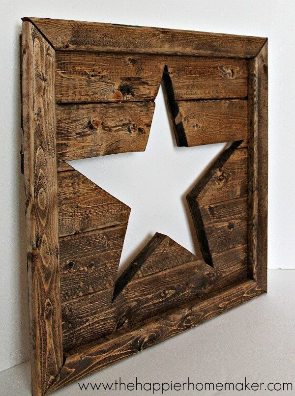 pottery barn knock off star pierced