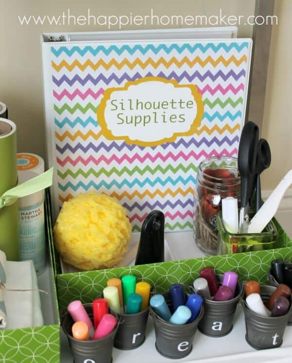 silhouette craft supply storage
