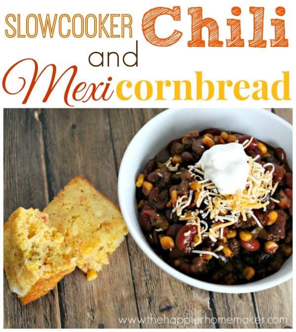 slowcooker chili mexi cornbread