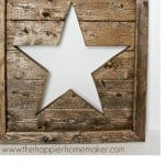 A wooden star made out of scrap wood for wall art