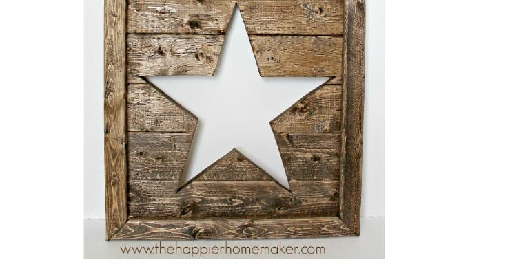 Pottery Barn Inspired Cut Out Wood Star Art