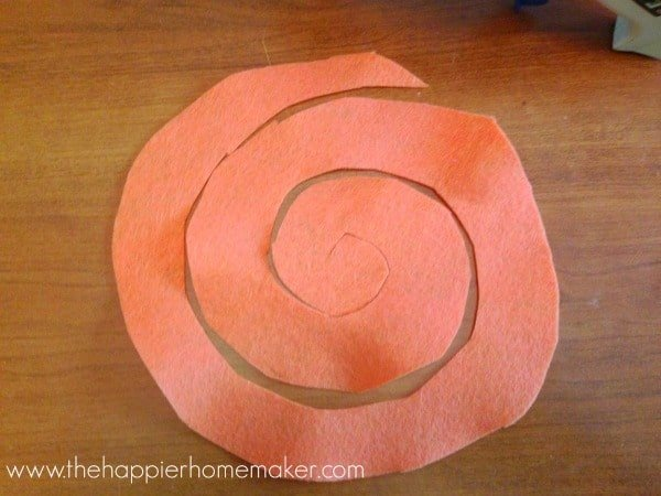 how to make a felt flower rosette