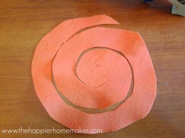 how to make a felt flower rosette