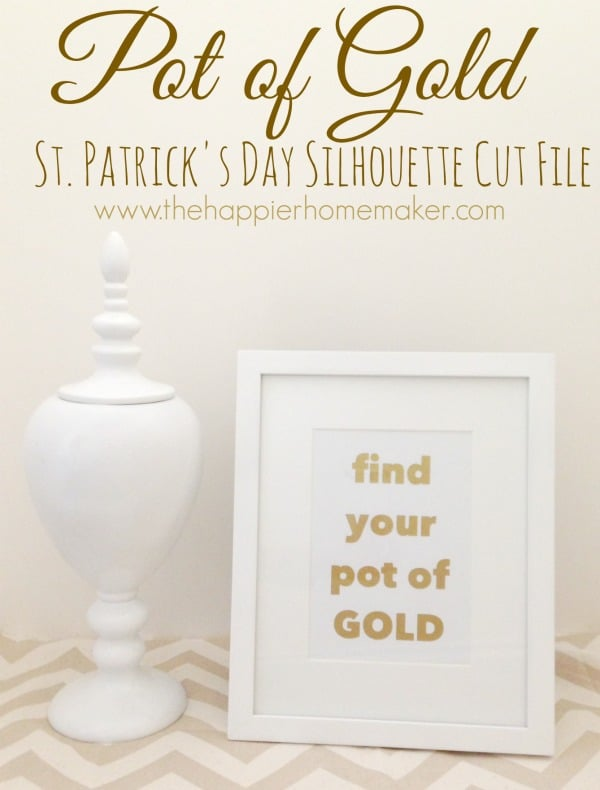 Pot of Gold St Patricks Day Framed Art