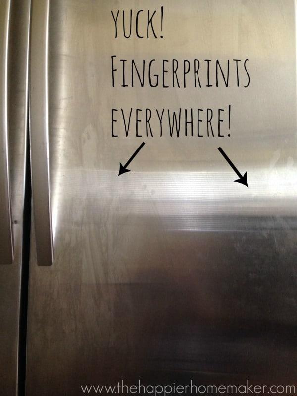 prevent fingerprints stainless steel