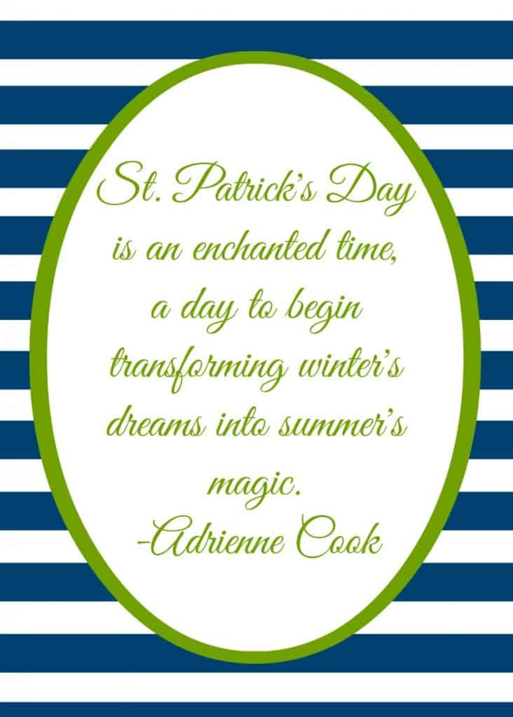 st patrick's printable 5 by 7