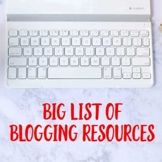 The BIG List of Blogging Resources