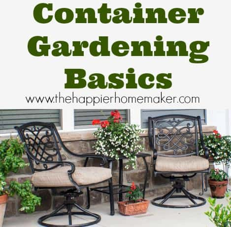 Container gardening basics the happier homemaker - Container gardening basics ...