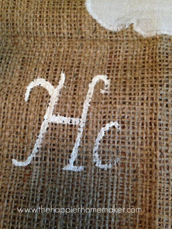 painting on burlap easter banner