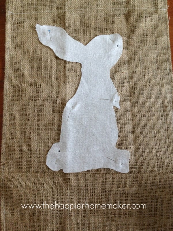 pb inspired easter bunny banner tutorial