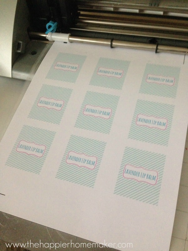 print and cut lip balm labels silhouette