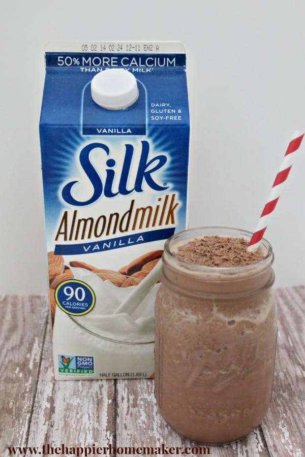 silk almond milk chocolate smoothie