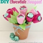 DIY chocolate Mother's Day bouqet