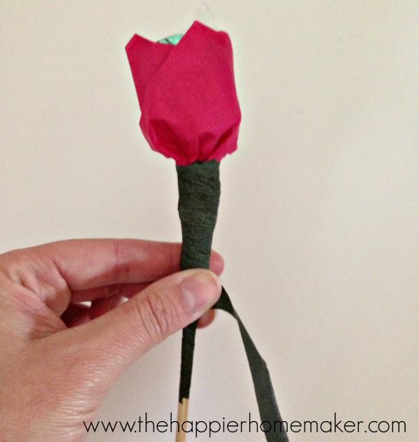 tissue paper chocolate flower