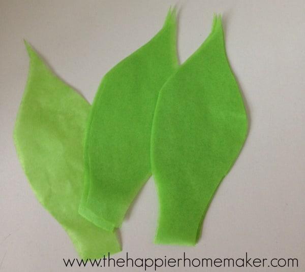 tissue paper flower leaves