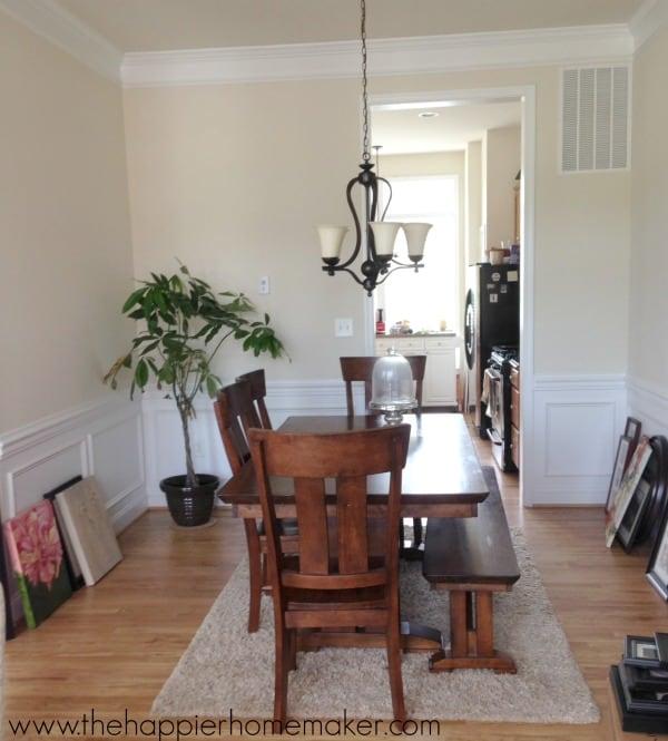 dining room in progress