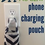 diy no sew phone charging pouch