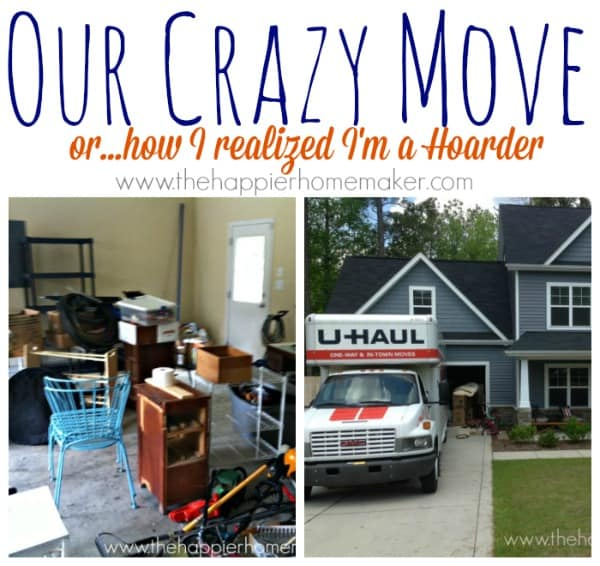Two pictures showing the process of moving from one home to another