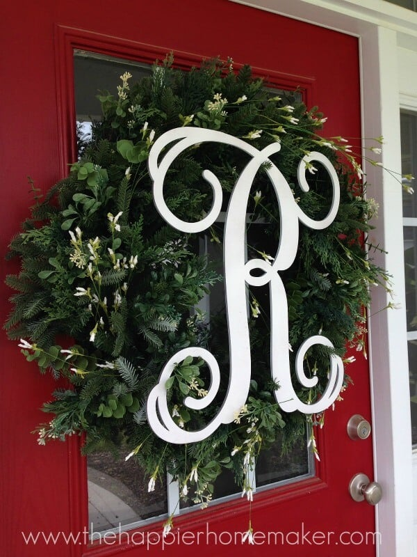 monogram balsam hill wreath