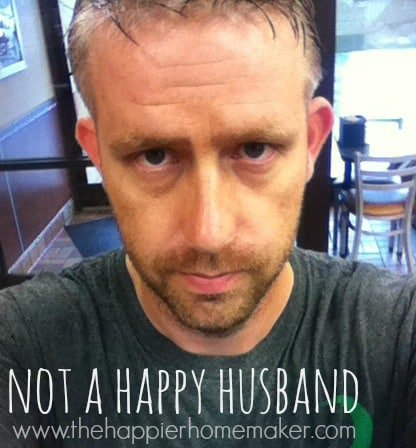 not happy husband