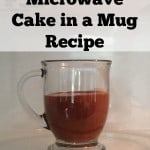 glass mug with nutella cake inside