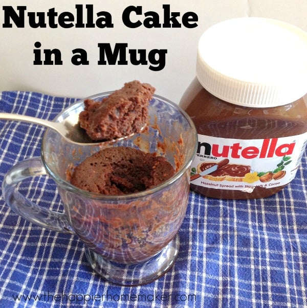 nutella cake mug recipe