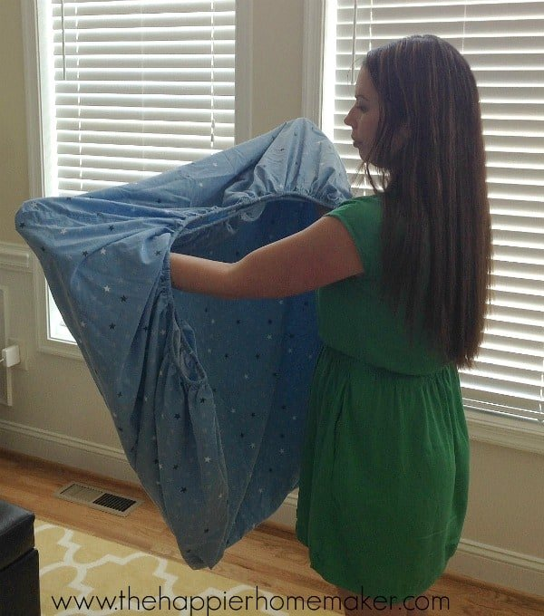 properly fold a fitted sheet