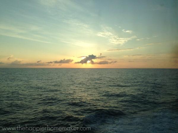 sunrise on cruise