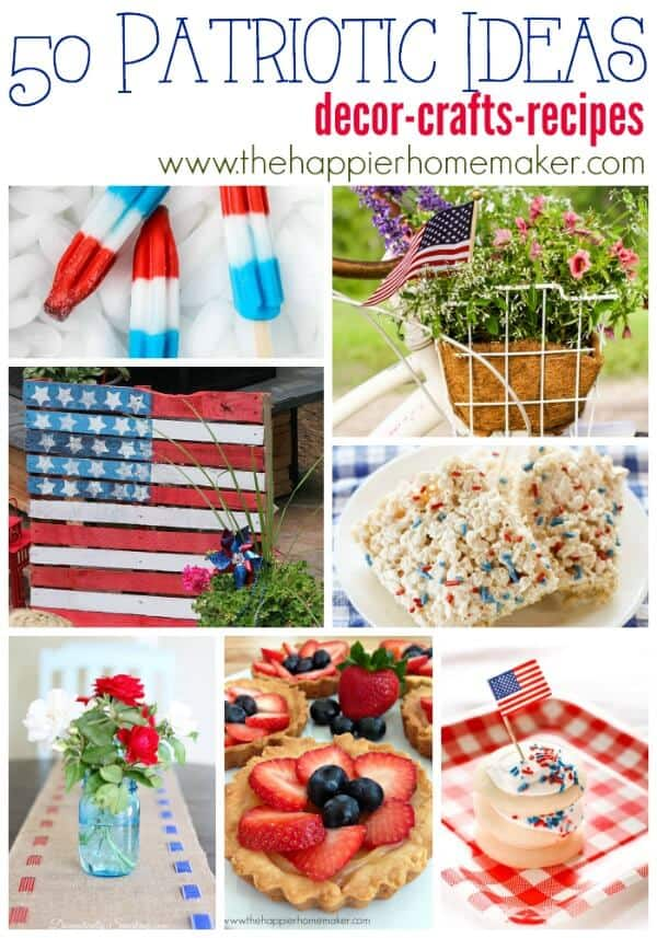 Tons of patriotic inspiration and ideas in this red, white, and blue round up!